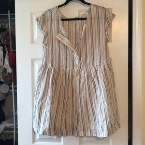 Free people stripe babydoll dress